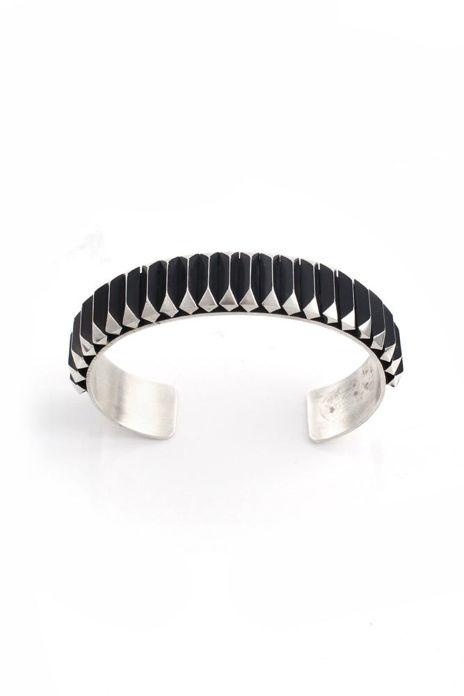 Leander Tahe Contemporary Sterling Silver Men's Cuff