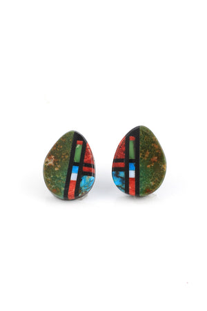 Teardrop Santo Domingo Post Earrings
