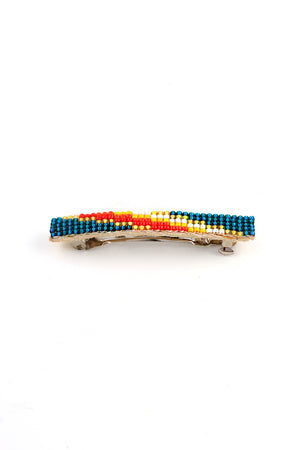 Load image into Gallery viewer, Narrow Navajo Beaded Barrette