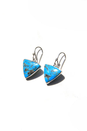 Triangular Blue Turquoise Earrings