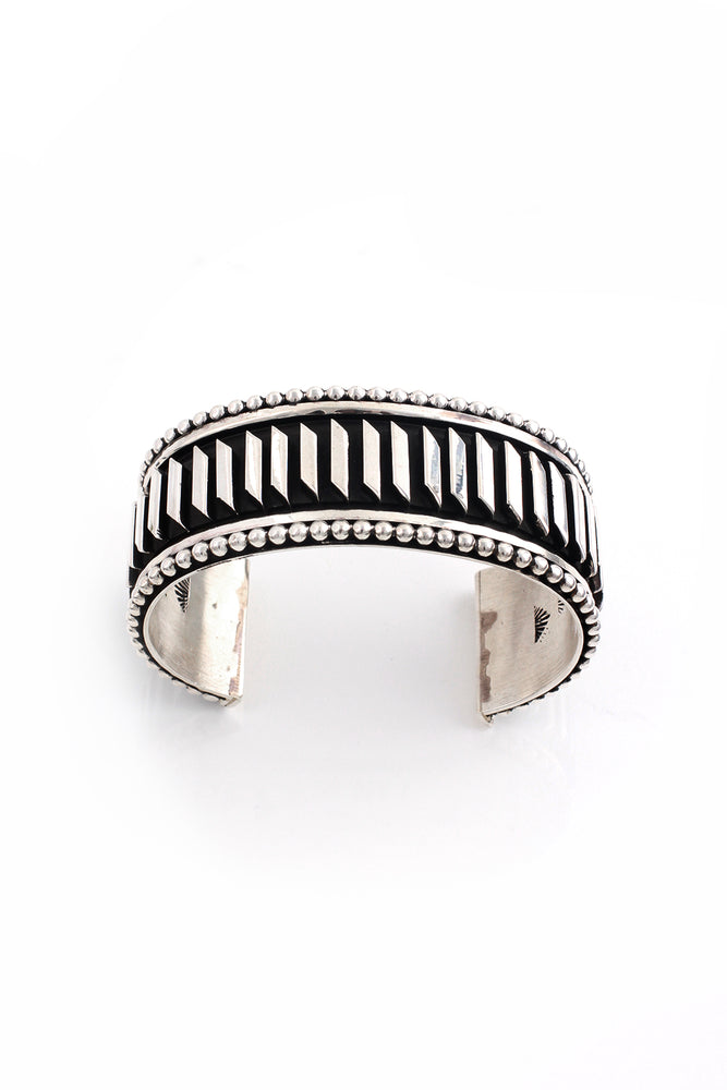 Tom Hawk Contemporary Sterling Silver Mens Cuff