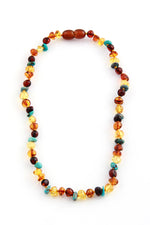 Turquoise and Baltic Amber Teething Necklace