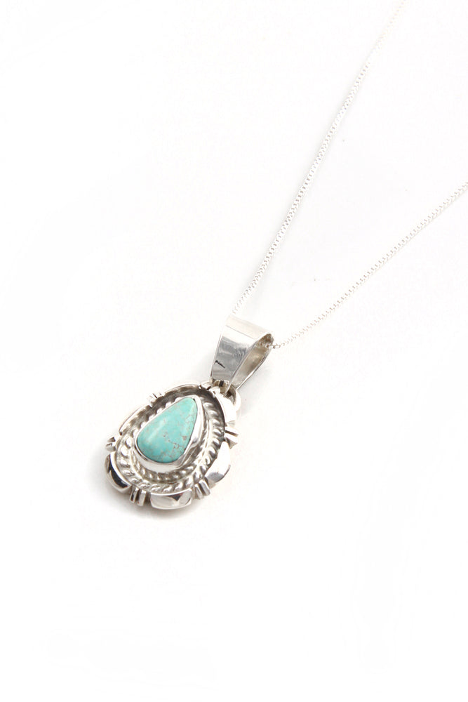 Load image into Gallery viewer, Dry Creek White Turquoise Pendant