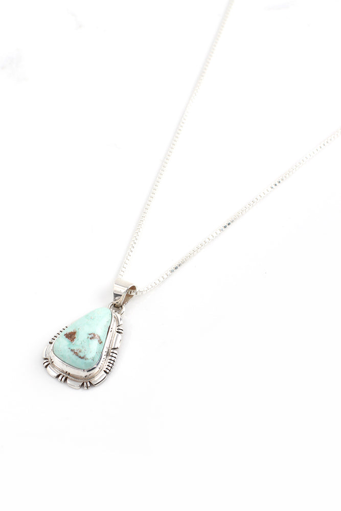 Simple Dry Creek White Turquoise Pendant