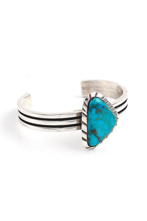 Load image into Gallery viewer, Ric Laselute Zuni Turquoise Cuff
