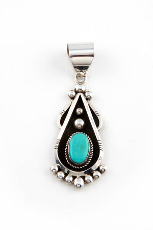 Load image into Gallery viewer, Lorena Nez Navajo Turquoise Pendant