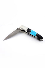 Damascus Steel Turquoise Knife