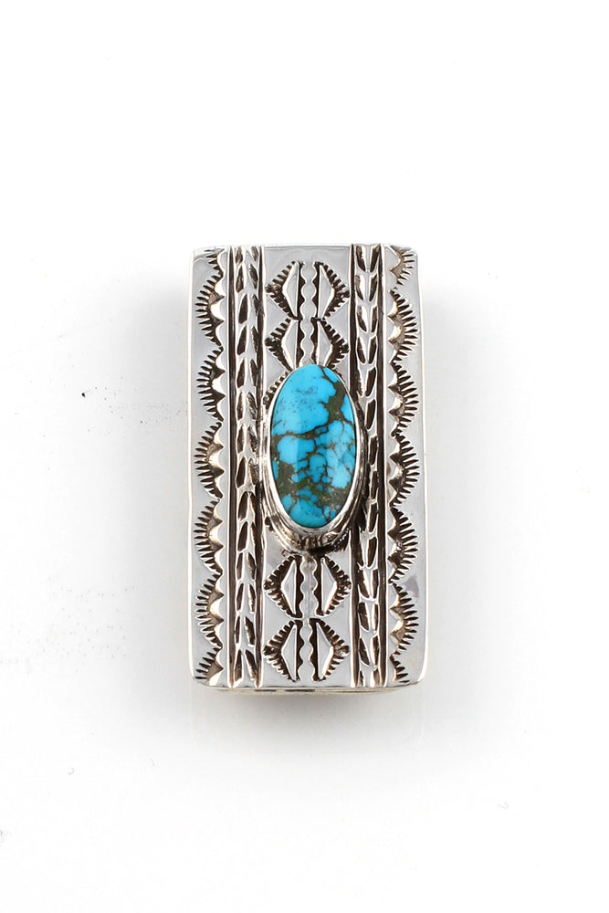 Navajo Sterling Silver Turquoise Money Clip