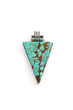 Natural Turquoise Triangle Pendant
