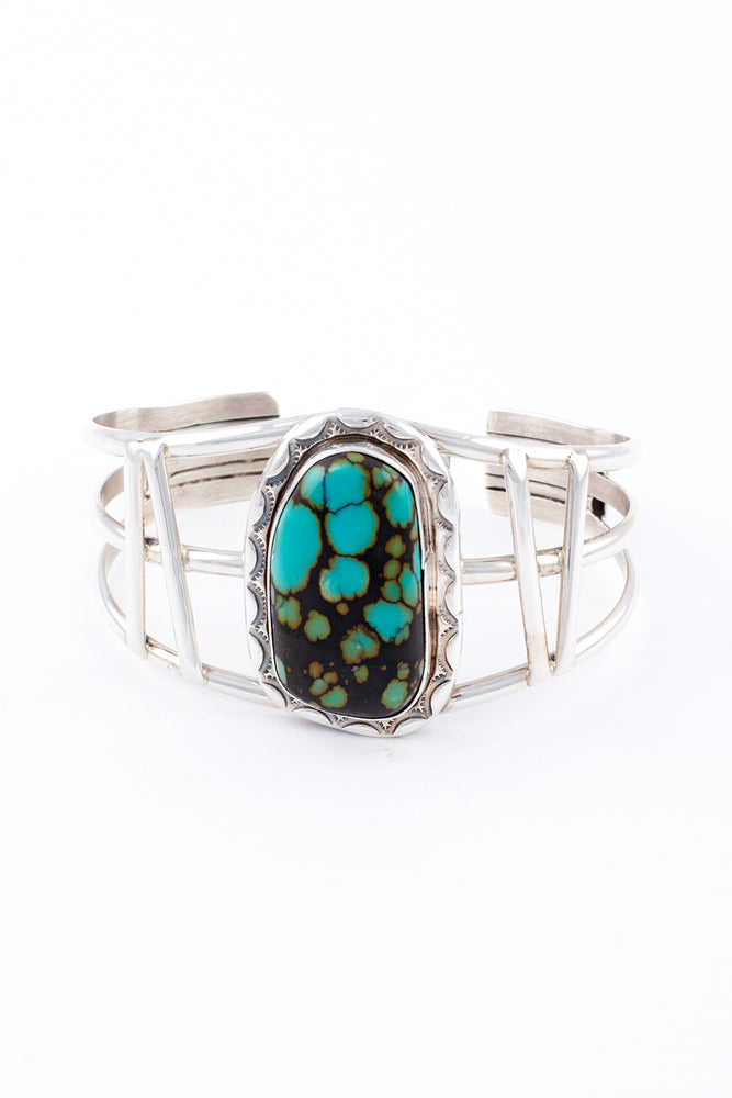 Blue/Green Turquoise Cuff by Ted Secatero