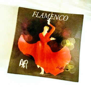 Flamenco Small Square Glass Plate - AFRArt2U