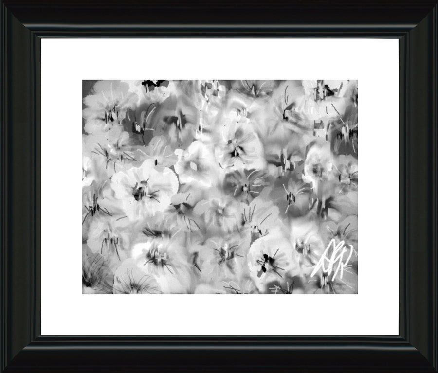 Pansies Two Ways. Framed Prints. - AFRArt2U