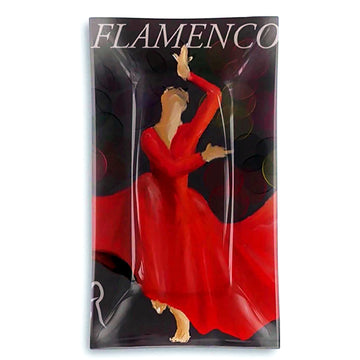 Flamenco Rectangular Glass Tray - AFRArt2U