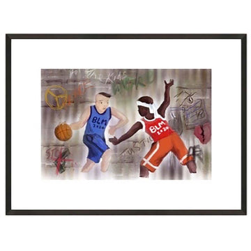 Basketball Framed Print - AFRArt2U