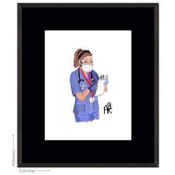 Nurse Framed Print - AFRArt2U