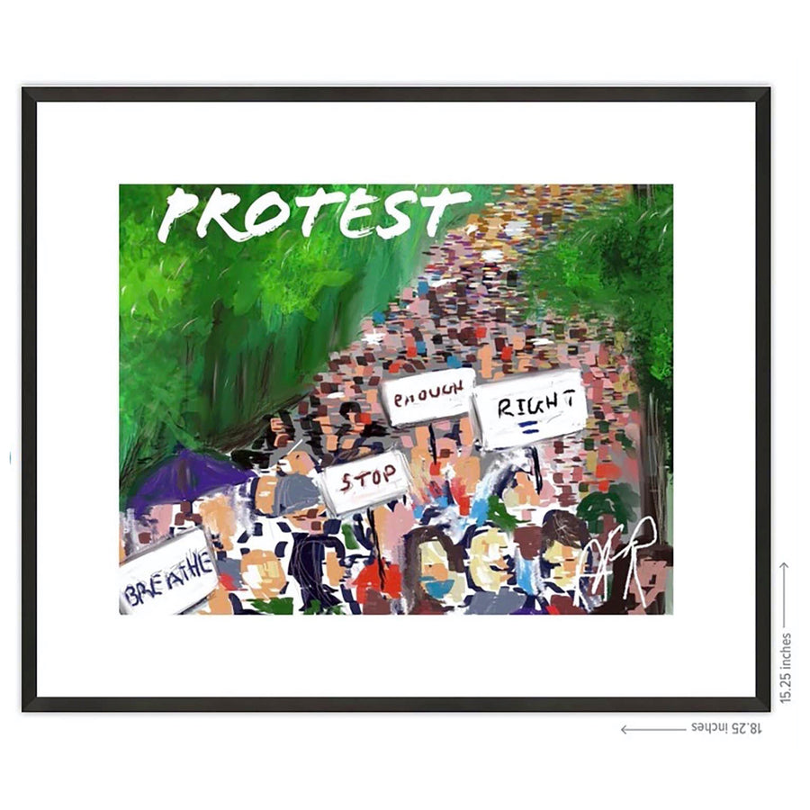 BLM and Protest Framed Prints - AFRArt2U
