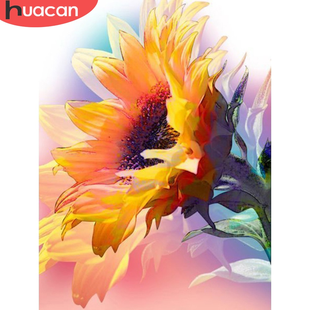 Sunflower Close-up 5D Diamond Dots Painting DIY Full Drill Select Square Round Diamonds Arts Crafts Embroidery Inlay Rhinestone Painting Home Decor