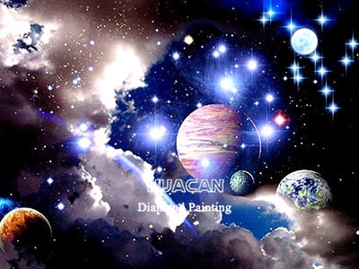 Universe Scenery 5D Crystal Painting Decorative DIY Home Decor Round Square Diamonds Arts & Crafts Do It Yourself Art Projects PTSD Therapy