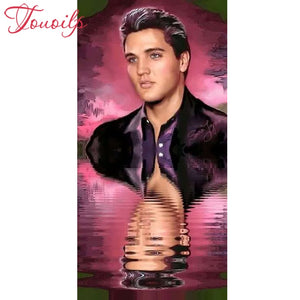 Elvis Reflection 5D Diamond Dots Painting DIY Full Drill Square Round Diamonds Arts Crafts Embroidery Inlay Rhinestone Painting Home Decor