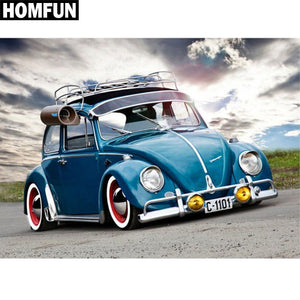 Volkswagen Super Beetle 5D Rhinestone Paintings DIY Full Drill Select Square Round Diamonds Arts Crafts Embroidery Inlay Diamond Paintings Home Decoration