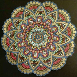Traditional Earthtones Mandala 5D Rhinestone Painting DIY Full Drill Select Square Round Diamonds Arts Crafts Embroidery Inlay Diamond Painting Home Decor