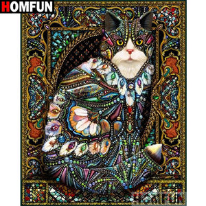 Fancy Cat Mosaic 5D Diamond Arts Painting DIY Full Drill Select Square Round Diamonds Craft Supplies Embroidery Rhinestone Painting Home Decoration