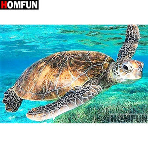 Animal sea turtle 5D Crystal Painting Decorative DIY Home Decor Select Round Square Diamonds Arts & Crafts Do It Yourself Art Projects Anxiety Therapy