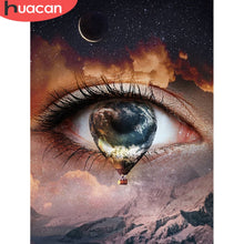 Load image into Gallery viewer, Eye Hot Air Balloon 5D Diamond Paintings DIY Full Drill Select Square Round Diamonds Arts Crafts Embroidery Rhinestone Paintings Home Decor