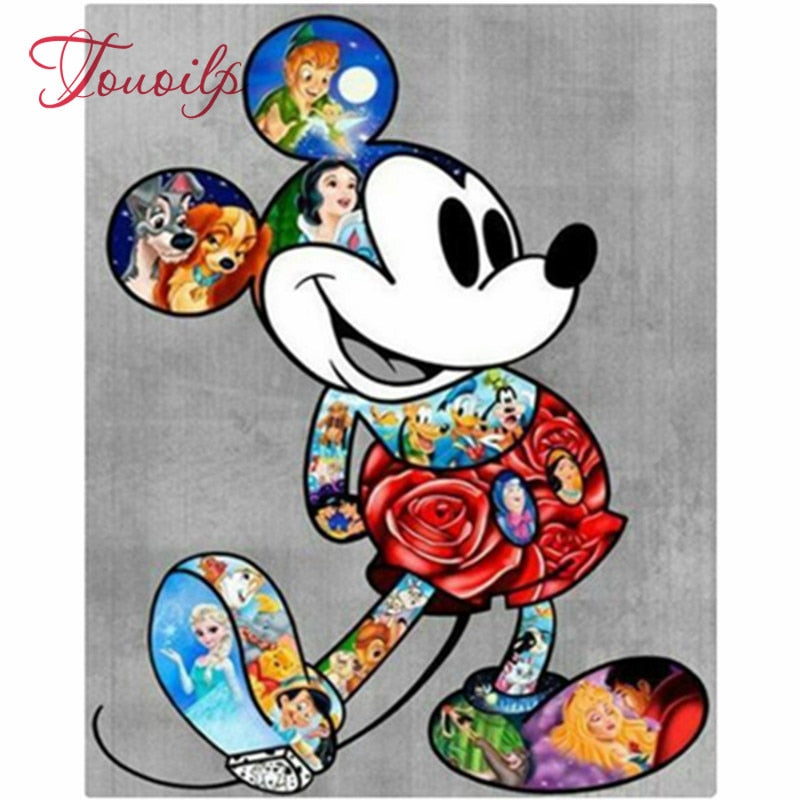 Mickey 5D Rhinestone Painting DIY Full Drill Square Round Diamonds Arts Crafts Embroidery Inlay Diamond Painting Home Decor