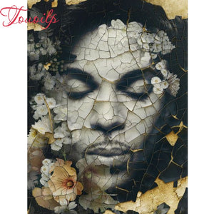 Prince Close-up 5D Diamond Painting DIY Full Drill Square Round Diamonds Arts Crafts Embroidery Inlay Purple Rain Rhinestone Painting Home Decoration
