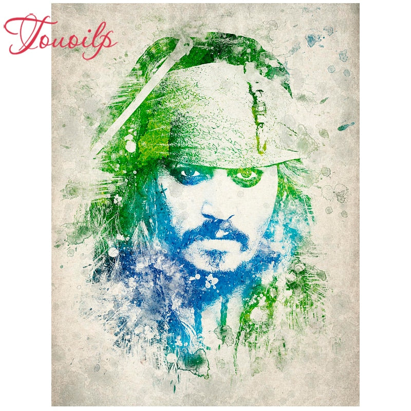 Pirates of the Caribbean 5D Rhinestone Painting DIY Full Drill Square Round Diamonds Arts Crafts Embroidery Inlay Jack Sparrow Diamond Painting Home Decor