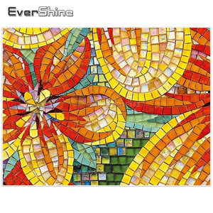 Tiled Flower 5D Crystal Art Paintings Decorative DIY Home Decoration Select Round Square Inlay Diamonds Do It Yourself Project ADHD Therapy