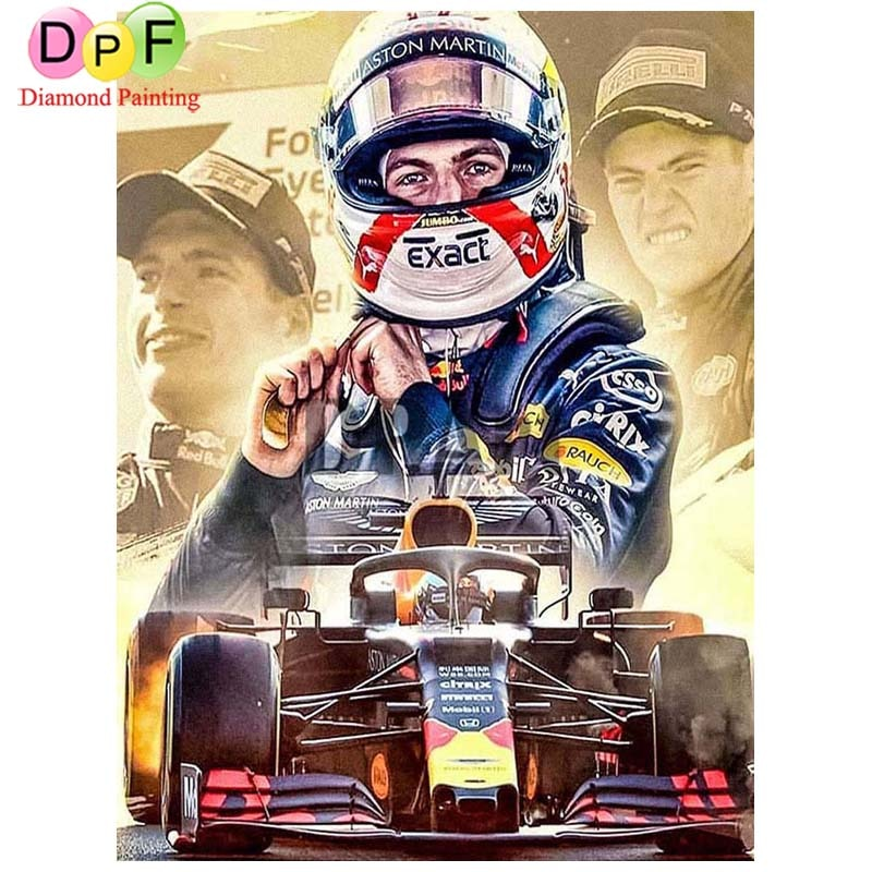 Indy Car Racer 5D Diamond Painting DIY Full Drill Select Square Round Diamonds Arts Crafts Embroidery Inlay Rhinestone Painting Home Decoration