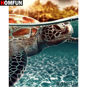 Animal sea turtle 5D Crystal Paintings Decorative DIY Home Decoration Select Round Square Inlay Diamonds Do It Yourself Art Project Relaxation Therapy