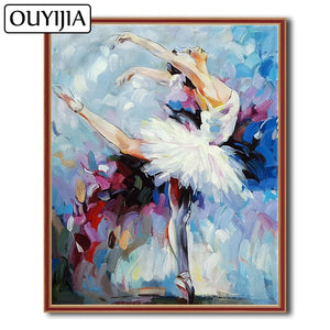 Ballet Dancer 5D Crystal Paintings Decorative DIY Home Decoration Round Square Inlay Diamonds Do It Yourself Art Project Relaxation Therapy