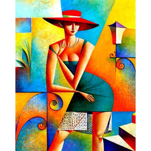 Abstract Women Pose Diamond Painting Kit DIY Full Drill Select Square Round Diamonds Arts Crafts Embroidery Inlay Diamond Paintings Home Decoration