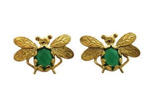 Emerald Bee Earring