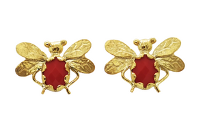 Ruby Bee Earring