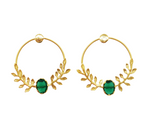 Statement Loop & Leaves Drop Earring