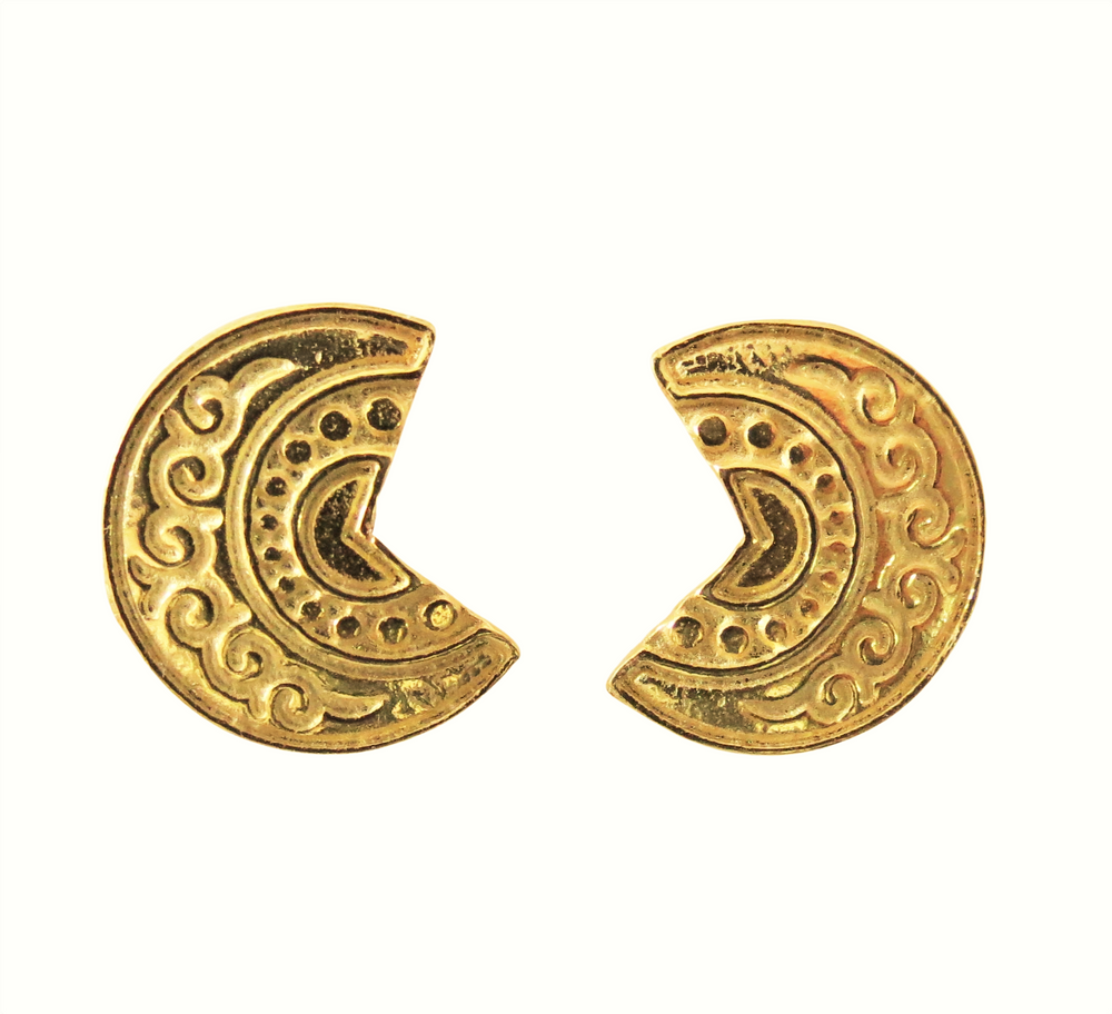 Three Quarter Disc Earring
