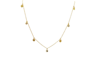 CZ & Gold Disc Layering Necklace