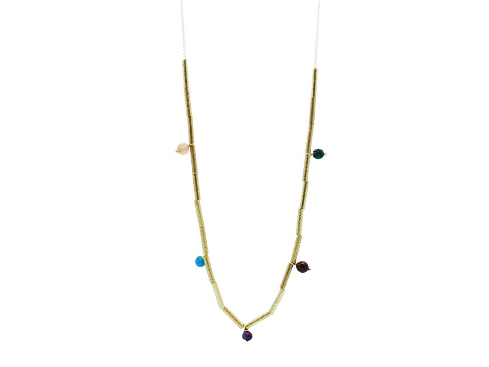 Quartz & CZ Long Necklace
