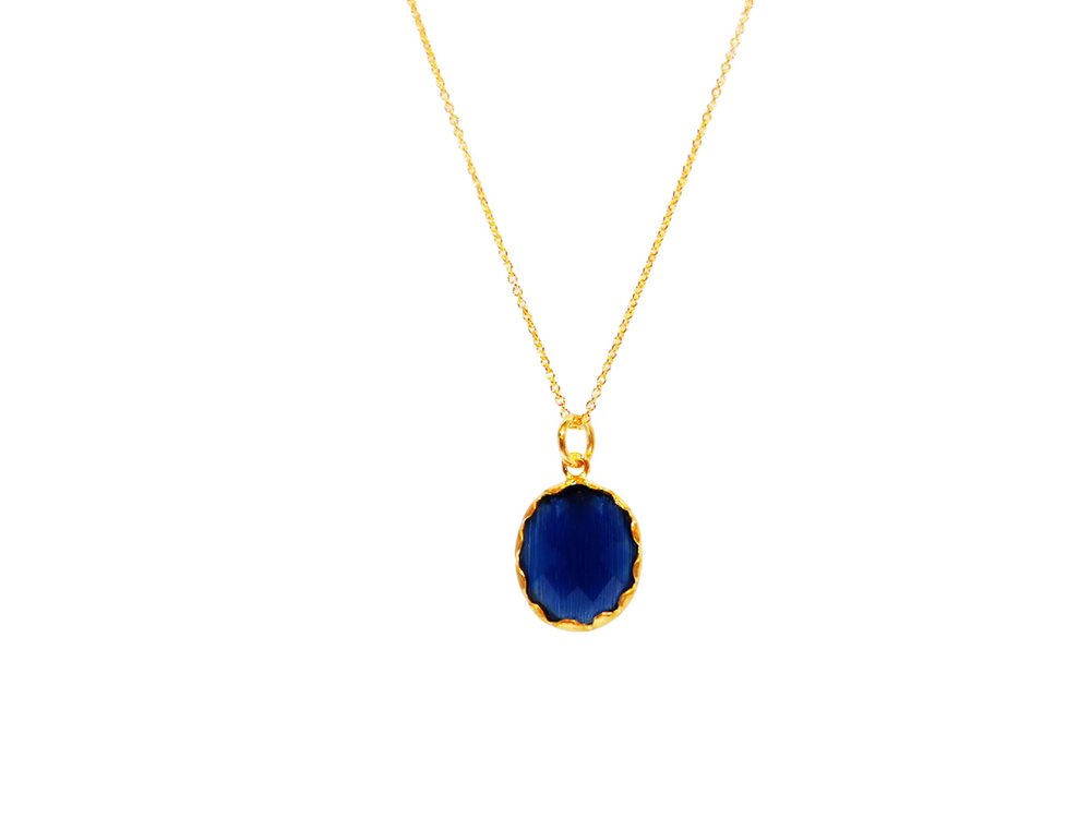 Royal Blue Oval Necklace