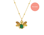 Emerald Bee Bobble Necklace