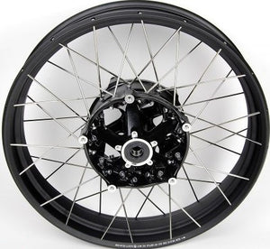 BMW Motorrad Black Rim Spoked Wheel Set with Tyres, TPS and Front Brake Discs + Pads for K50 R1200GS 2013-2018