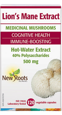 NEW ROOTS LION'S MANE MUSHROOM 500MG 120VC