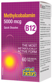 NATURAL FACTORS METHYLCOBALAMIN B12 5000MCG 60S