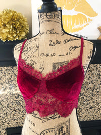 All 'Bout That Lace Wine Bralette