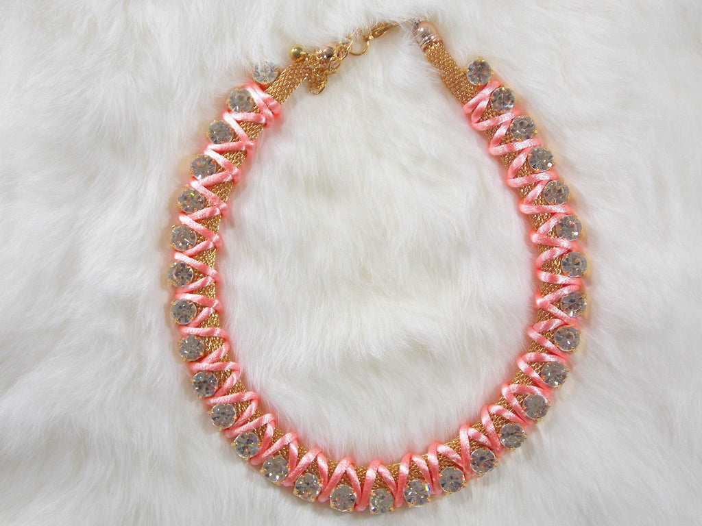 Backless Top - Pink Candy Necklace