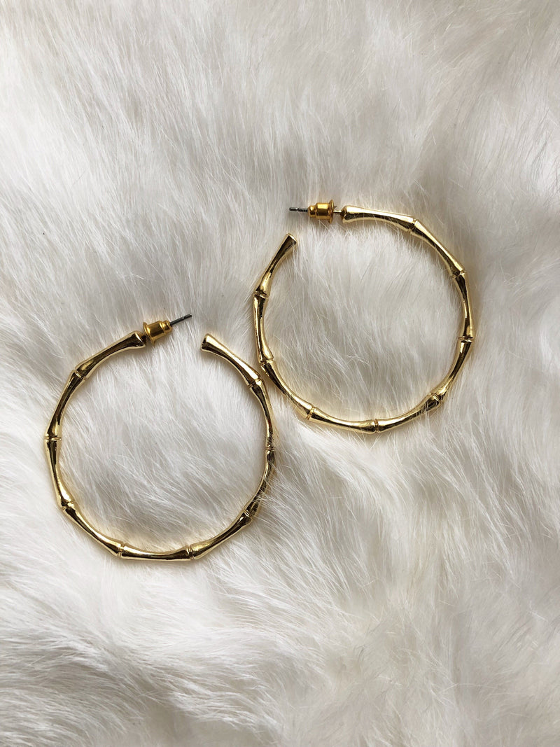 Golden Bamboo Stick Hoops